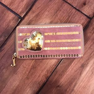 Juicy Couture Peach/Nude wallet with Gold sequins